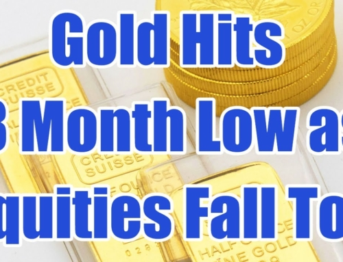 Gold Hits 8 Month Low as Equities Fall Too