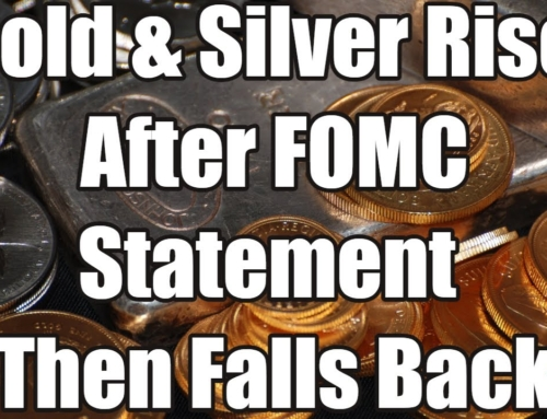 Gold & Silver Rises After FOMC Statement Then Falls Back