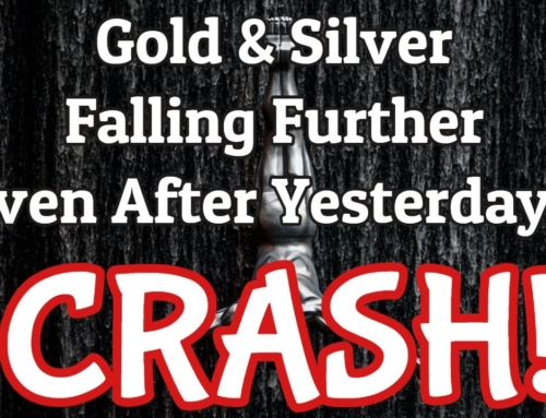 Gold & Silver Prices Fall Further – Even After Yesterday's Crash